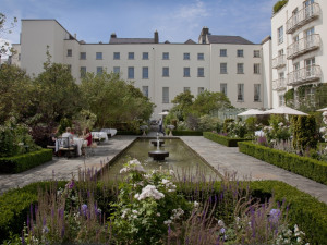 Courtyard at The Merrion Hotel.