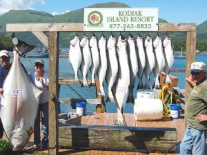 Fishing at Alaska's Kodiak Island Resort.