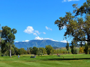 Golf course near Trailhead Lodge.