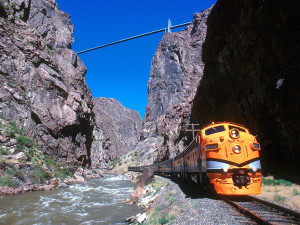 Mountain train ride near Rocky Mountain Lodge & Cabins.