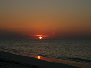 Beautiful sunset at Orange Hill Beach Inn.