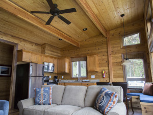 Cabin interior at Snug Harbor Marina Resort.