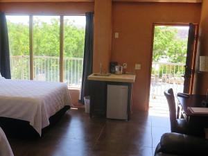 Guest room at La Posada Pintada.