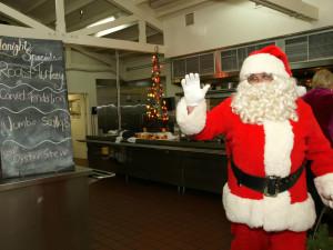 Santa visiting Smoke Tree Ranch.