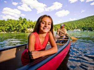 Canoeing on Lake George near Travelodge Lake George.