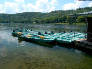 Boats at Norfork Resort & Trout Dock.