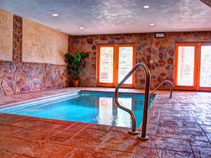 Cabin indoor pool at Elk Springs Resort.