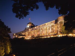 Night view of Grand Hotel.