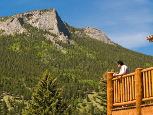 Mountain view at McGregor Mountain Lodge.