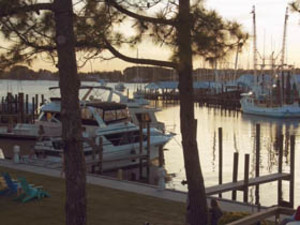 Boats on the Water at Oriental Marina and Inn