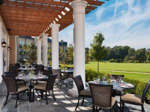 Patio dining at Salamander Resort & Spa.