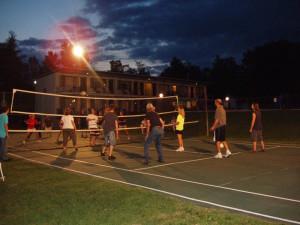 Volleyball court at Baumann's Brookside Summer Resort.