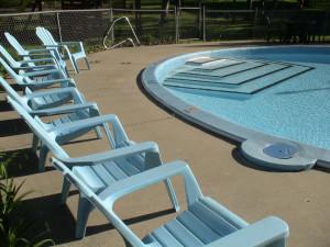 Outdoor pool at Birchcliff Resort.
