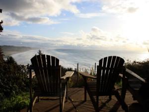 Relaxing at Redwood Coast Vacation Rentals.