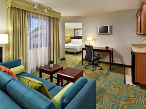 Guest suite at SpringHill Suites Victorville Hesperia.
