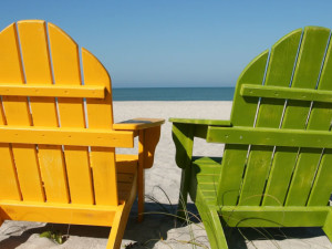 Relaxing on the beach at Fort Morgan Realty.