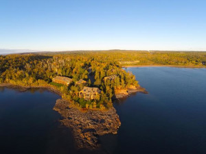 Aerial view of Superior Shores Resort and Conference Center.