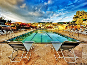 Outdoor pool at Calistoga Spa.