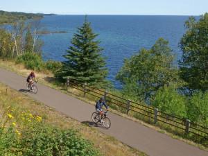Biking at The Mountain Inn at Lutsen.