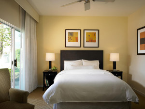 Guest bedroom at The Westin Mission Hills Villas.
