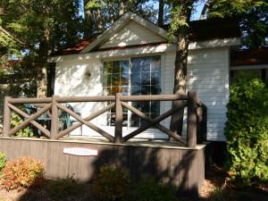 Cabin exterior at Severn Lodge.