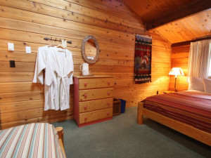 Guest room at Good Medicine Lodge.
