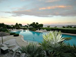 Outdoor pool at Barefeet Rentals.
