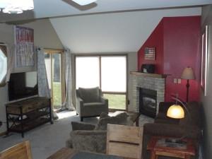 Rental living room at Sand County Service Company - Tamarack Resort.