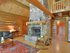Cabin interior at North Country Vacation Rentals.