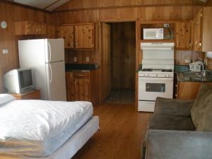 Cabin interior at Mark Twain Landing.