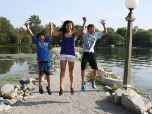 Family at Fern Resort.