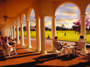 Porch at Pinehurst Resort.