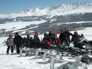 Snowmobiling at Vail's Mountain Haus.