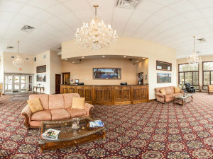 Lobby view at Lake Placid Summit Hotel Resort Suites.