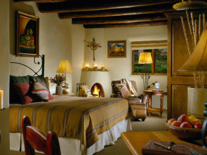 Guest room at La Posada de Santa Fe Resort & Spa.