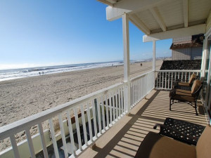 Vacation rental balcony at Burr White Realty.