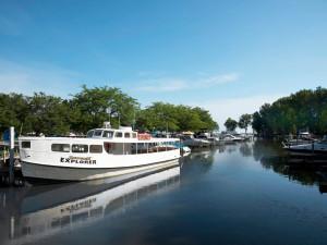 Boats at Sawmill Creek Resort.