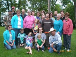 Family reunion at Cedarwild Resort.