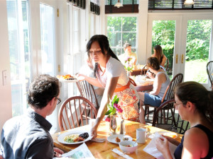 Dining at Buttermilk Falls Inn & Spa.