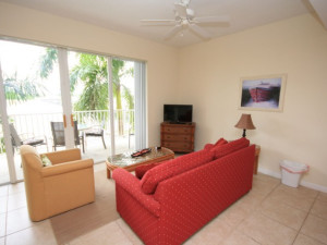 Rental living room at Boca Ciega Resort.