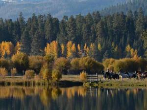 Horseback riding at Black Butte Ranch.