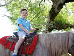 Pony rides at Smoke Tree Ranch.