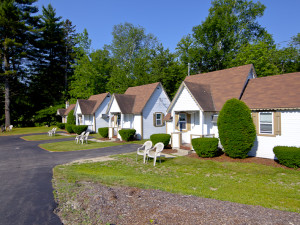 Cabins at Riverbank Motel & Cabins.
