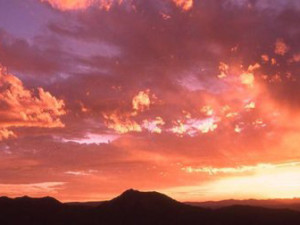 Sunset Over Lone Mountain at Lone Mountain Ranch