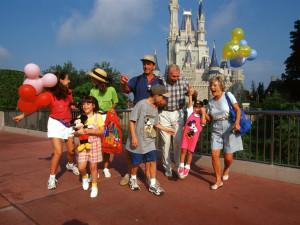 Family enjoying the Disney parks near SkyRun Vacation Rentals - Orlando, Florida.