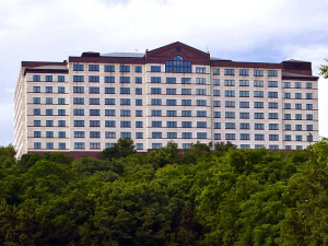 Exterior view of Renaissance Austin Hotel.