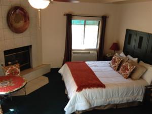 Cabin bedroom at Old Creek Resort.