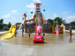 Waterpark at Jellystone Park at Lake Monroe.