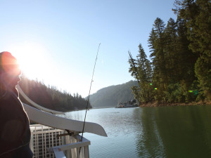 Fishing at Trinity Lake.