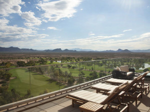 Sunning in the AZ heat at Talking Stick Resort